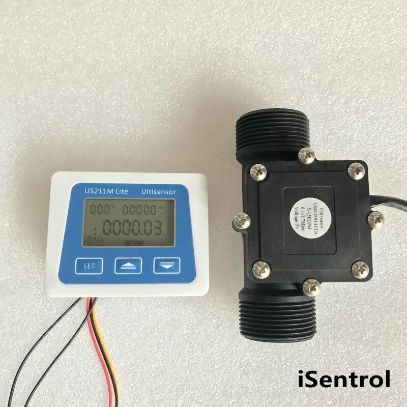 US211M Lite USN HS14TA 5 150L min Digital Flow Meter 5V Flow Reader Compatible with all