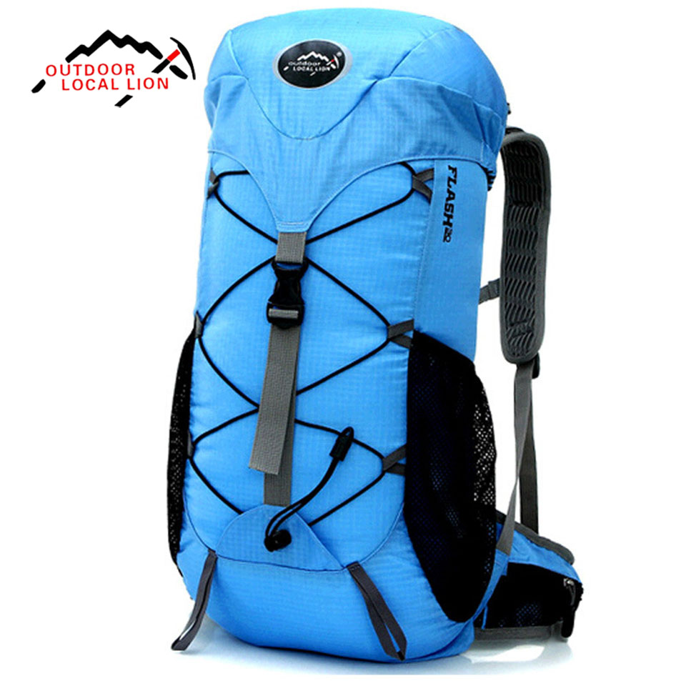 LOCAL LION 35L Men Backpacks Outdoor Mountaineering Bag Sports Bag For Women Backpack Waterproof Hiking Rucksacks Camping