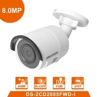 Hik оригинальный DS-2CD2085FWD-I 8MP сетевая цилиндрическая камера системы безопасности камеры скрытого видеонаблюдения