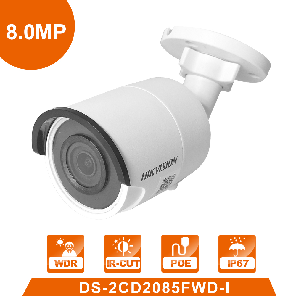 купить Hik Original DS-2CD2085FWD-I 8MP Network Bullet Camera Security System Surveillance Camera