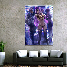 1 Piece LOL League of Legends Kai Sa Game Poster Canvas Paintings Wall Sexy Girl Art for Home Decor Poster Canvas Wholesale все цены