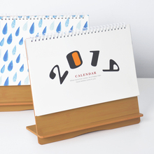 2019 Cute Animal Flower Wooden Calendar DIY Table Desk Calendars Daily Schedule Planner 2018.07~2019.12