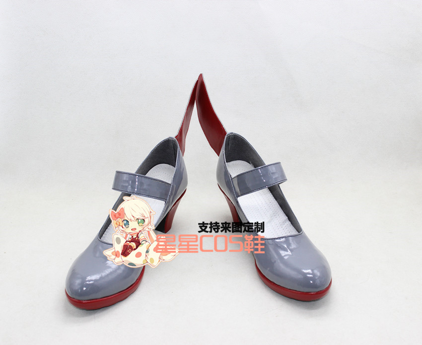 Kantai Collection Takao Girls Gray Halloween Cosplay Shoes Boots X002