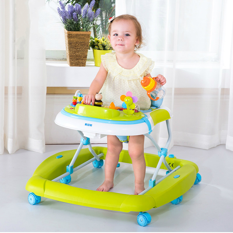 New Arrival Children Baby Rocking Horse Baby Walker Multifunctional Anti Roll Over Baby First Walk Learning Car Music Walker C01 2016 new baby walker car anti roll over multifunctional baby stroller music toys plate baby walk learning car folding walker c01