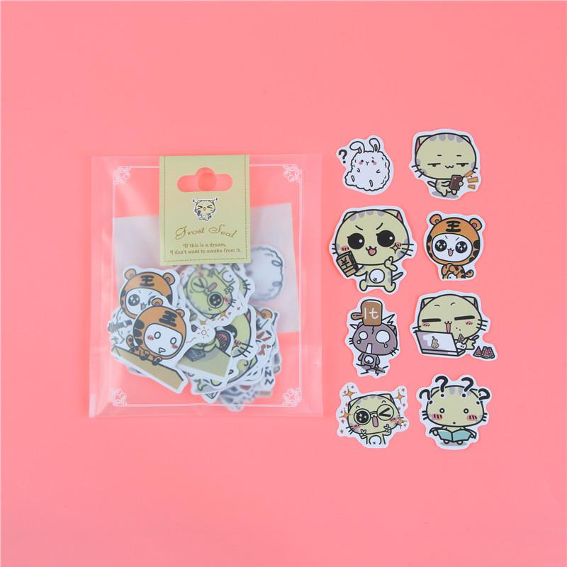 1 пакет, милые Мультяшные декоративные наклейки в Корейском стиле, клейкие наклейки, скрапбукинг, сделай сам, декоративные наклейки для дневника - Цвет: D