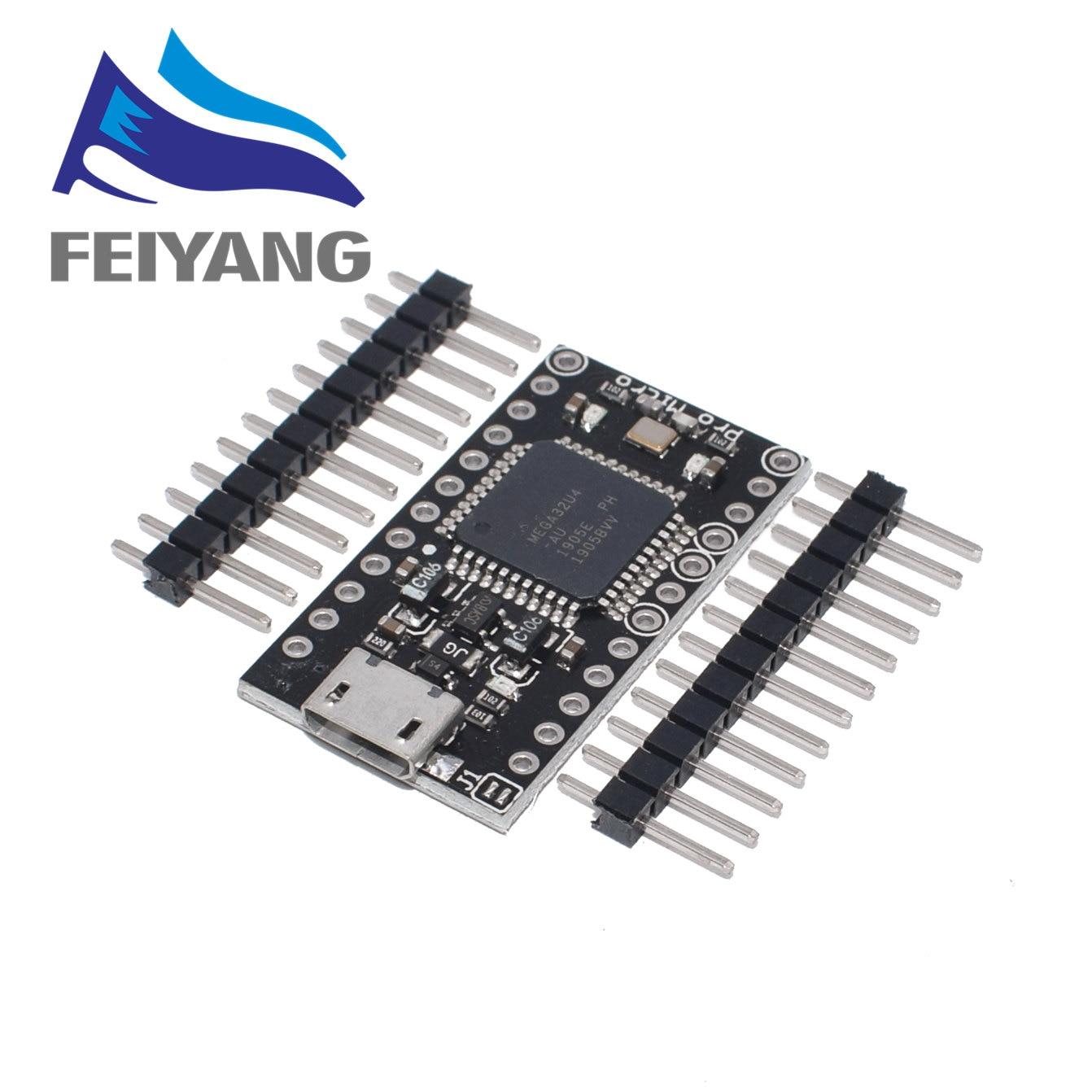 10pcs With the bootloader New Pro Micro ATmega32U4 ATMEGA32U4 AU 5V 16MHz Module controller