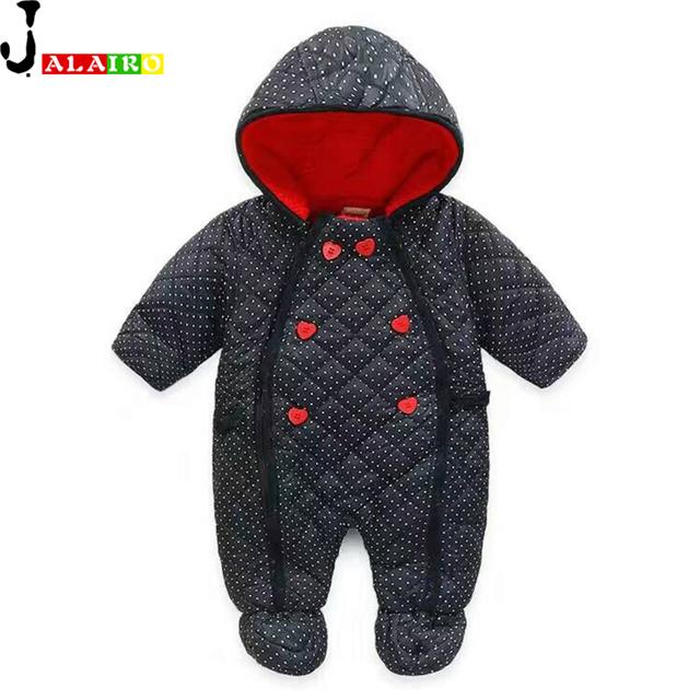 Popular do inverno Do Bebê Recém-nascido Romper Do Bebê Casacos & Coats Neve Desgaste Do Inverno Macacões Macacão de Recém-nascidos
