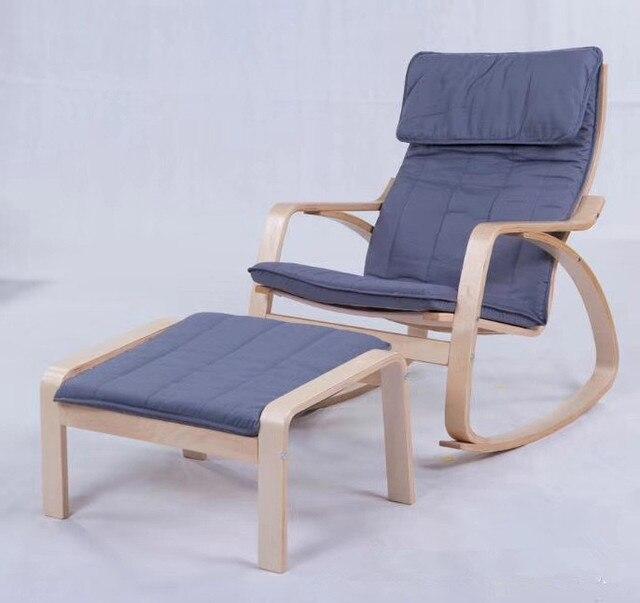 Cómodo relajarse silla mecedora y heces planeadores balancín muebles ...