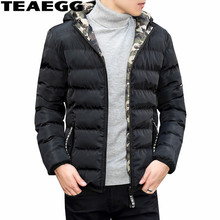 TEAEGG Male Jacket Black Warm Winter Jackets Men Clothing Cotton Both Side Wear Men Winter Coat Parkas Hombre Invierno AL528