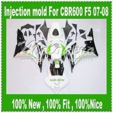 For HONDA F5 CBR600RR 07 08 CBR 600 600RR Injection CBR600 RR CBR600F5 07-08 White Black Qe3255f F5 2007 2008 Fairing