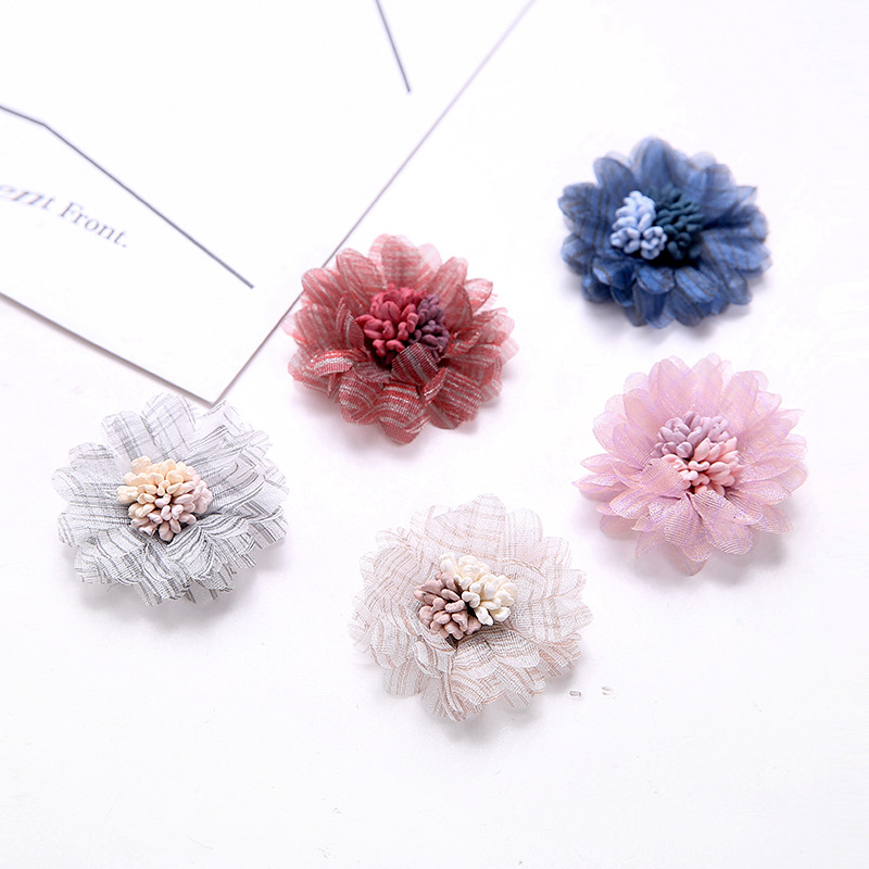 Humor 20 Pcs 40mm Cloth Gauze Flowers With Stamen Connectors Charm Diy Accessories For Jewelry Making Exquisite Traditional Embroidery Art Back To Search Resultsjewelry & Accessories