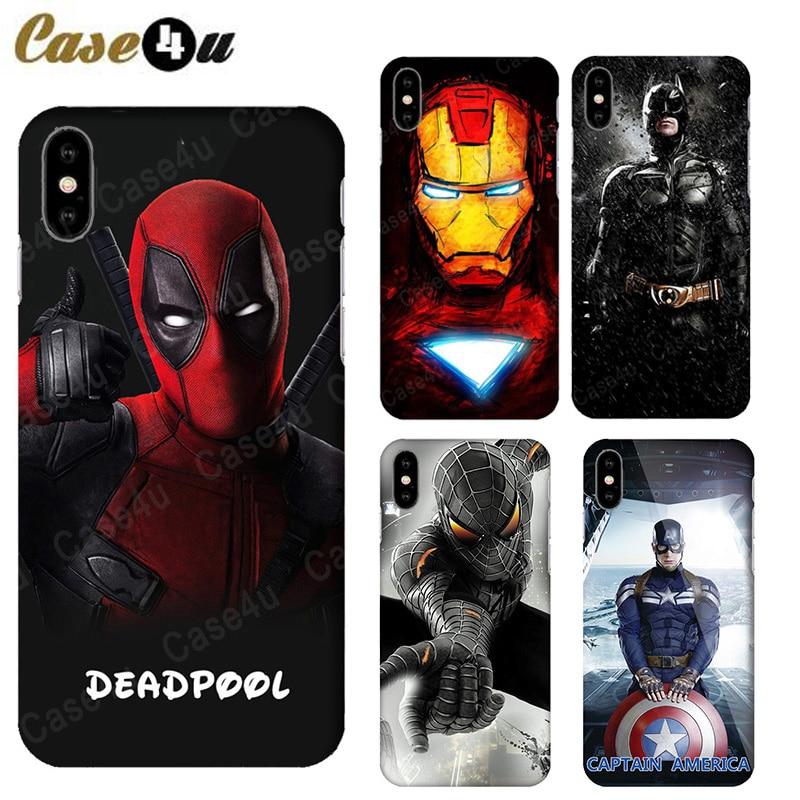 Marvel Avengers Comics Phone Case for iPhone X 8 7 Plus 6s iPhone8 coque capinhas Hard Slim Case Superman Captain Amercan Shield