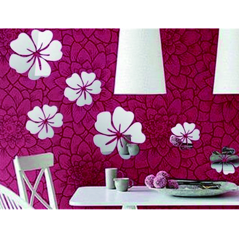 Acrylic Wall Flower Shaped Mirrors