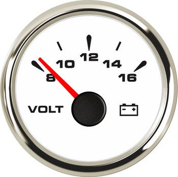 SAMDO 7 kolor tylne światło 52mm uniwersalne woltomierze mierniki napięcia mierniki napięcia 8-16V dla łodzi jachtu silnik samochodowy Home Truck tanie i dobre opinie CN (pochodzenie) 0 15kg W132288 Voltmeter 5 2cm