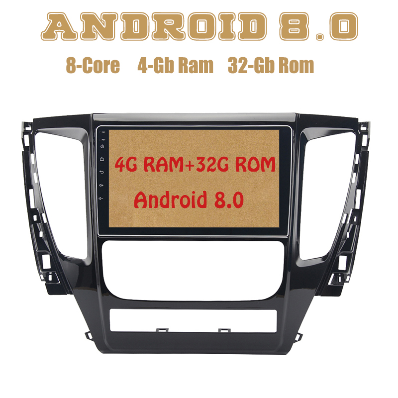 Octa core PX5 Android 8.0 car radio gps for mitsubishi pajero sport 2017 with 4G RAM 32G ROM wifi 4g usb Auto Stereo Multimed