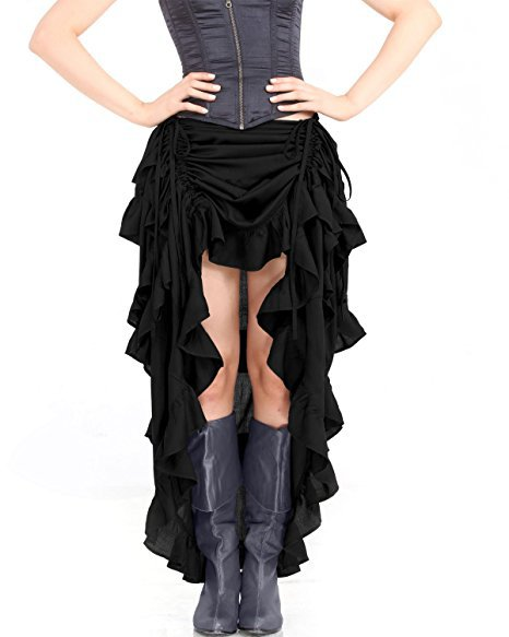 Steampunk Victorian Gothic Womens Costume Show Girl Skirt S-2XL