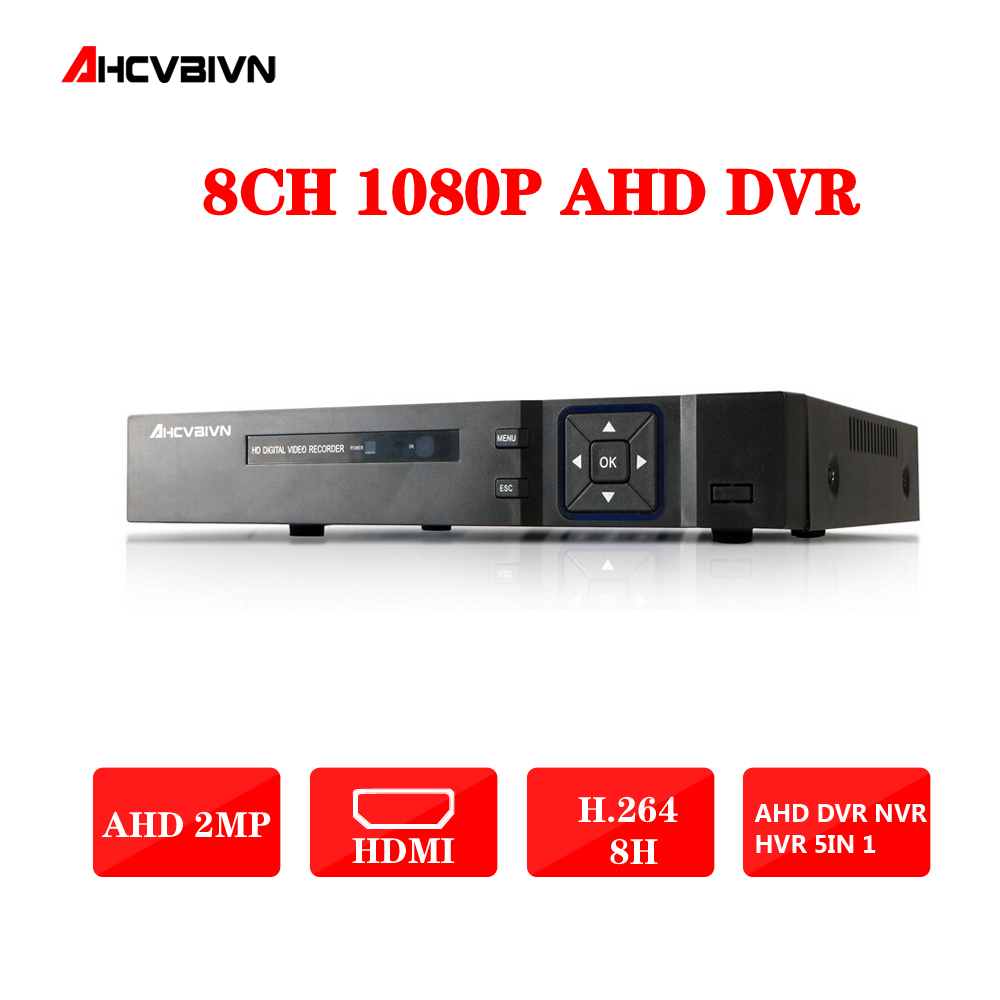8CH 1080P DVR System ONVIF mini NVR 8CH AHD Hybrid DVR HDMI 1080P H.264 P2P Cloud network video recorder CCTV 8CH DVR Recorder smar hybrid 5 in 1 dvr 8ch 1080n ahd dvr home security h 264 video recorder onvif xmeye p2p network cctv dvr system