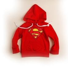 Cartoon Baby Boys Fashion Superman Print Kids Coat Hoodie Jacket Sweater Pullover Outwear 2 – 7 Y