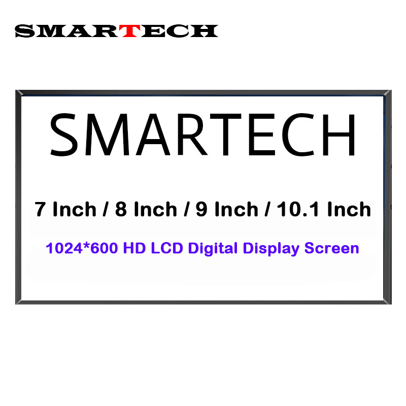 SMARTECH Android Multi-Media Car DVD Radio Screen Display HD 1024*600 LCD Digital Display Screen Not Full Car Radio Player aputure v screen vs 2 finehd lcd field digital multi function monitor 7inch full hd lcd screen finehd for dslr for camcorder