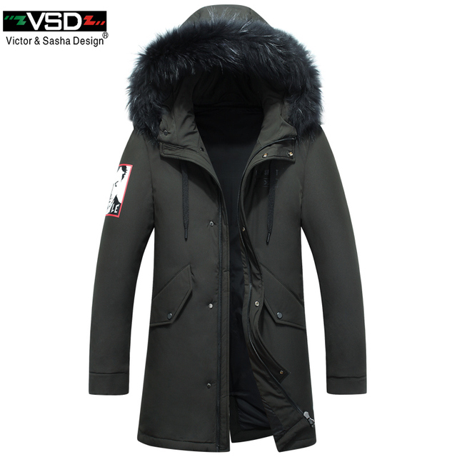 8c81aadc23fa2 VSD 2019 Fashion Winter New Camouflage Jackets Men Warm Coat Parka Long  Thickening Coat Men For Winter Luxury Fur Hooded VSD1858
