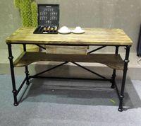 Американский кантри Стиль дважды Слои стол многофункциональный Гостиная Чай Таблица/столик кабинет Тетрадь/компьютерный стол