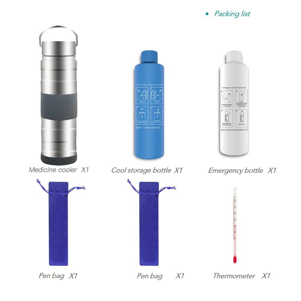 Small Medicina  Cooler Case Small Fridge Small Ice Fridge Cooler Refrigerator For Cosmetics Diabetes Portebla Medication Cooler
