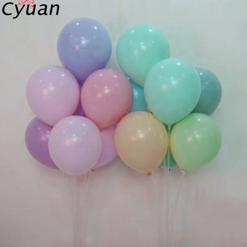 c10714f4ac1af Cyuan 12 36inch Macaron Pastel Latex Balloons Birthday Party Favors Air  Balloon Baby Shower Party