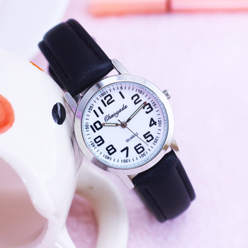 2019 CYD women men boys girls high quality clear digital quartz wristwatches students leather for exam children watches clock