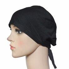 Мусульманская шапочка под хиджаб шапка головной убор мягкая хлопок эластичная с поясом противоскользящая