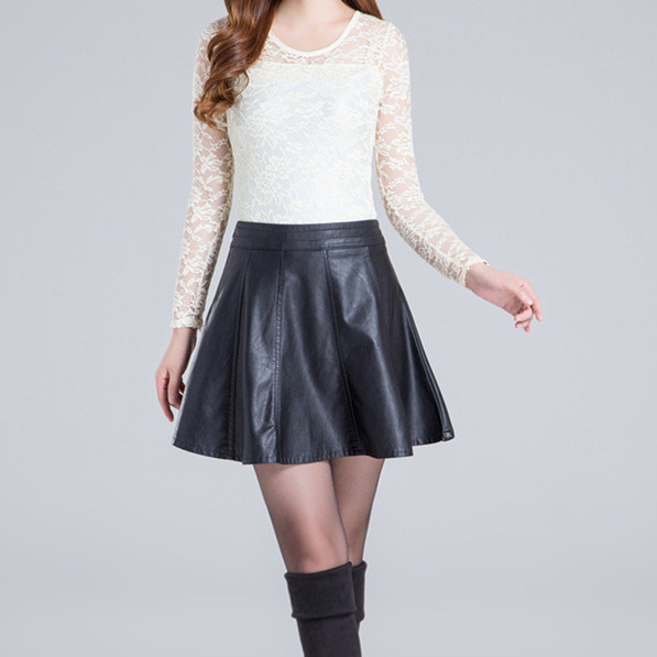 New-Pattern-PU-A-Line-Skirt-Women-Black-Short -Fashion-Europe-Style-Casual-Knee-Length-Mini.jpg