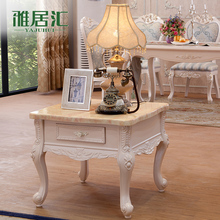 European-style living room coffee table wood carved small French side a few corner tables Jiji E306 teasideend
