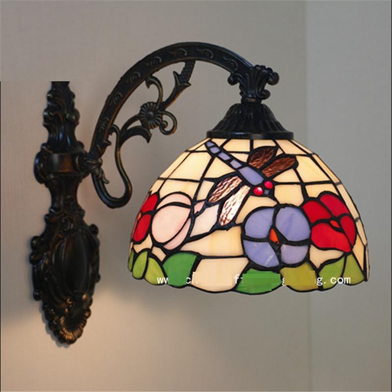 Tiffany wall lamp, Baroque wall lamp ,20cm butterfly wall mounted tiffany light for reading room,balcony,corridor TEN-W-010