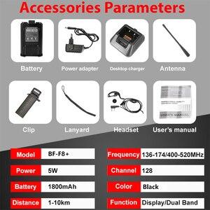 Image 5 - Baofeng BF F8 + อัพเกรดใหม่Walkie TalkieตำรวจวิทยุPofung F8 + 5W UHF VHF Dual Bandยาวกลางแจ้งHam Transceiver