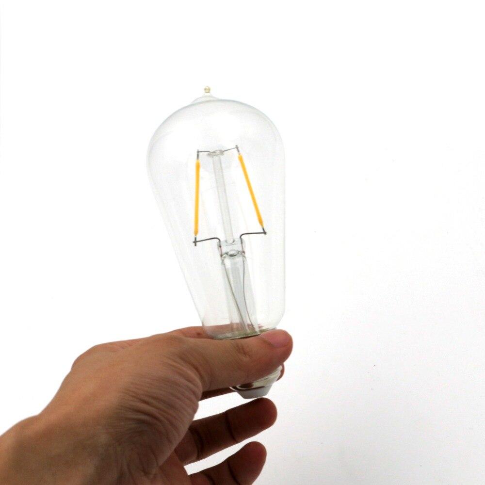 Lightinbox 2W 4W 6W 8W E27 Vintage COB LED Filament Energy Saving Lamp 220V For Decor Home Lighting ST58 LED Edison Bulb