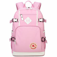 AOLIDA Female teen cute fashion leisure school backpack pure color Oxford cloth laptop back