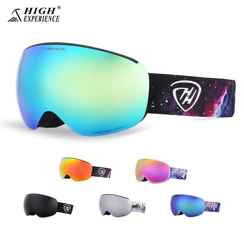 Haute expérience hommes lunettes de Ski lunettes de Ski pour femmes Snowboard lunettes homme grand masque de neige Ski et Snowboard lunettes