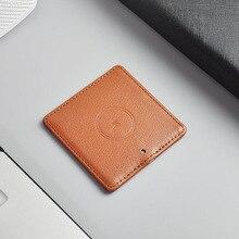 Тонкий кожаный qi зарядное устройство Быстрая зарядка мобильного телефона qi Беспроводное зарядное устройство для iPhone X, зарядная подставка для Samsung S8 Plus S7 edge