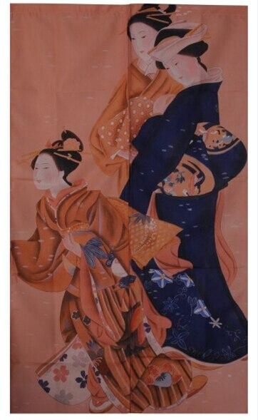 Frete grátis Feng Shui coreano japonês Sushi restaurante cozinha porta cortina de pano noren, Beleza 85 x 140 cm