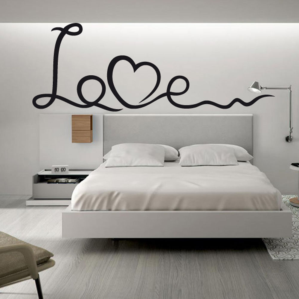 Vinilo pared decorativo love wall stickers love words for Stickers para pared
