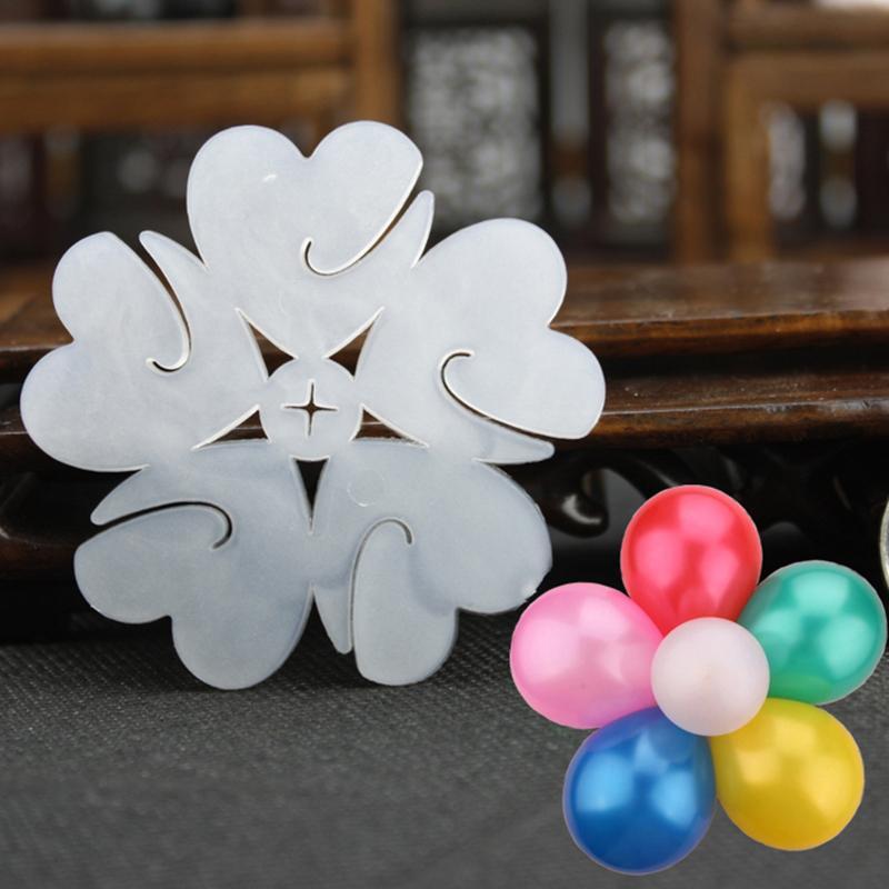 10pcs/lot Balloon Seal Clip That Combine 5 Balloons to Flower Shape Multi Balloon Sticks Balloon Accessory