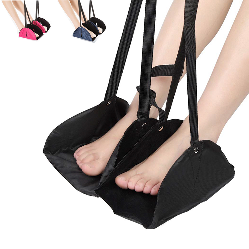 Portable Chair Office Foot Hammock Comfy Hanger Travel Airplane Footrest Hammock Outdoor Indoor Foot Resting Hammock image