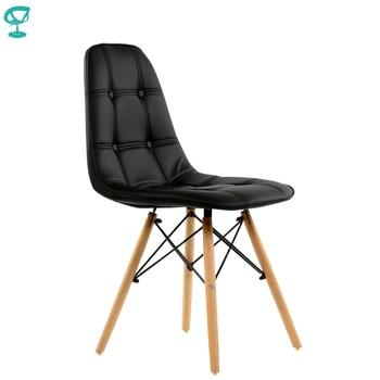 95215 Barneo N-43 Eco-Skin Wood Kitchen Breakfast Interior Stool Bar Chair Kitchen Furniture Black free shipping in Russia
