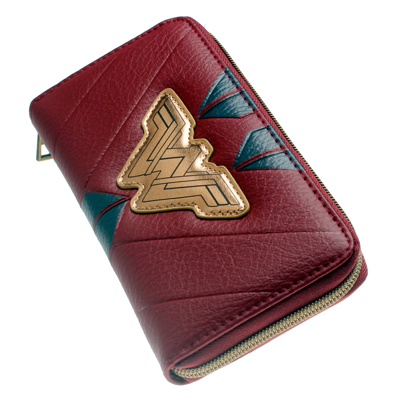 Wonder Woman Zip Around Wallet Pu Long Fashion Women Wallets Designer Brand Purse Lady Party Wallet Female Card Holder
