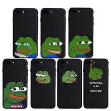 Fashion Green Sad Pepe Frog Case For iphone 6 6s Plus 5s SE 7 8 Plus X Xs XR XS Max soft Silicon cover Capa Funda Coque(China)