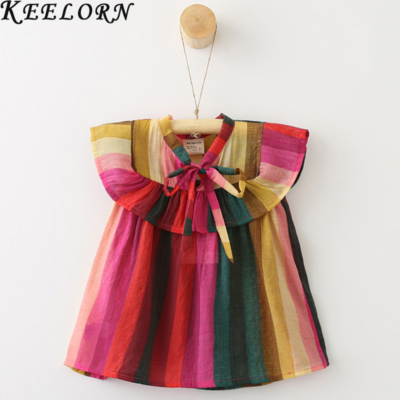 Keelorn Girls Dresses 2018 Summer New Princess Dress Sleeveless Casual for kids Clothes Party Dress 2-7Y keelorn girls dress 2017 brand princess dresses kids clothes sleeveless banana leaf pattern print design for girls clothes