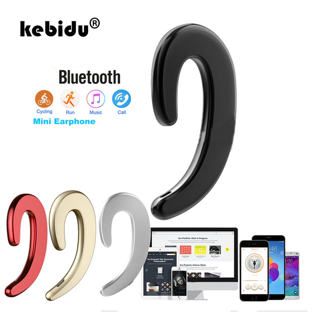 kebidu Bone Conduction earphone Wireless Bluetooth 4.2 Sports Stereo Headset for laptop Tablet for xiaomi for iphone 7 8 X