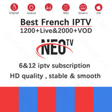 Neo pro tv IPTV subscription morocco Tunisia Algeria French Italian uk iptv code xstream M3U mag free test for Android TV Box(China)