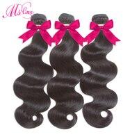 3 Bundles Peruvian Body Wave Human Hair Bundles Deal 10 26 Inch Non Remy Hair Extension