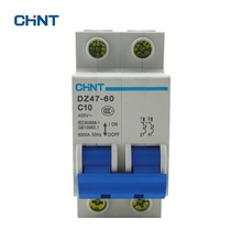 Small Circuit Breaker DZ47-60 2P C10 Home Protection Miniature Air Switch