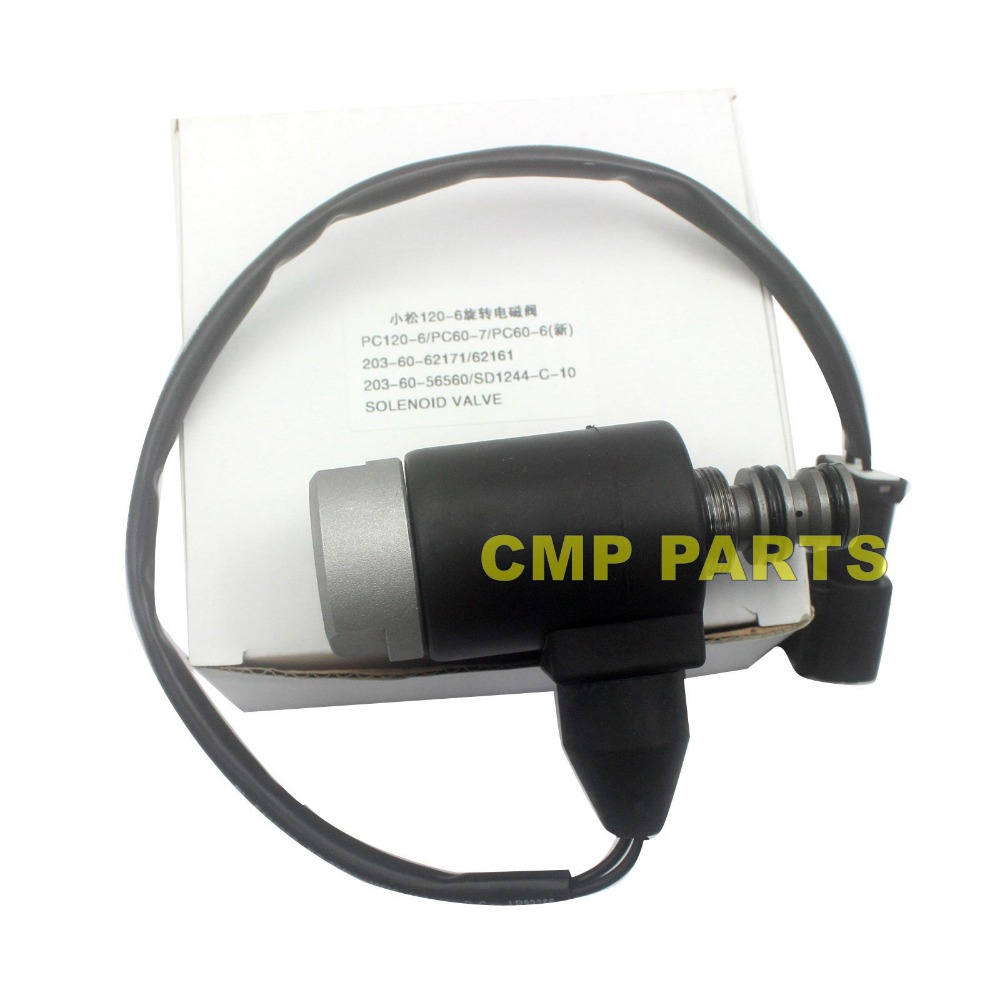 SINOCMP 203-60-62161 Excavator swing motor solenoid valve  for Komatsu  PC60-7 PC120-5 PC130-6 PC128US-1